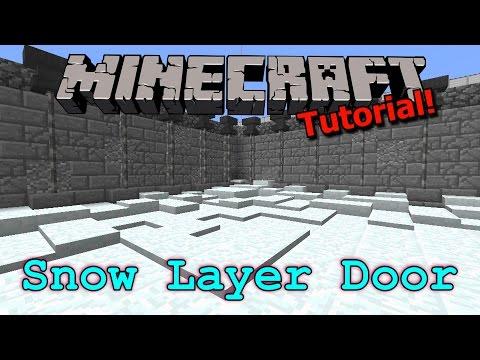 [Tutorial] Minecraft Hidden Snow Layer Door