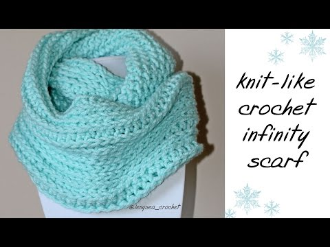 How To Crochet for Beginners | Knit Like Infinity Scarf