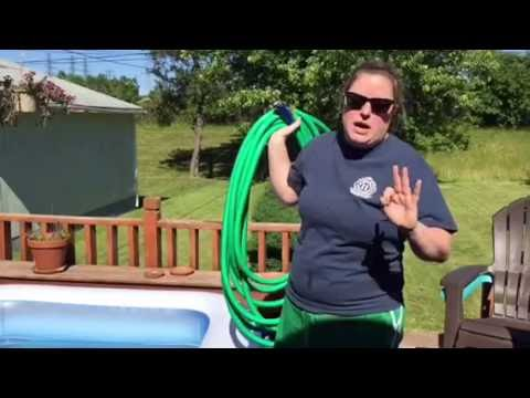 Liz Attempts To Empty Her Pool With Only A Hose