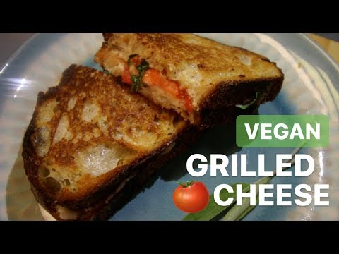 Best VEGAN Grilled Cheese - Margherita Style