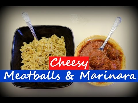Homemade Cheesy Meatballs & Marinara Sauce