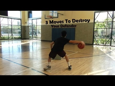 3 Moves to Destroy Your Defender- Basketball how to break ankles!