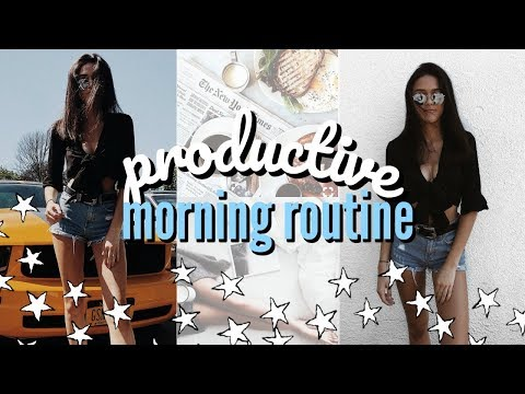 productive summer morning routine (vlog style) online college classes & internships