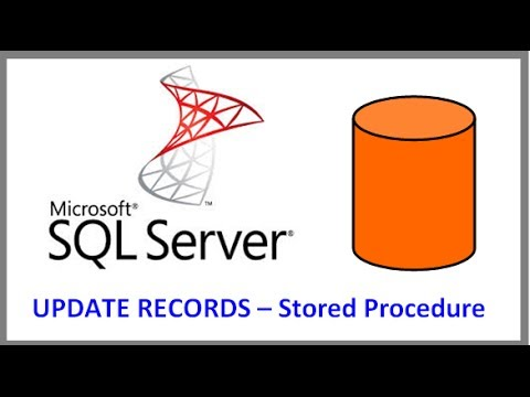 SQL Server - UPDATE RECORDS IN TABLE VIA STORED PROCEDURE