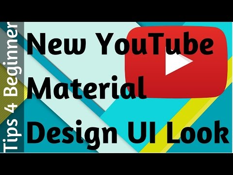 Material Design YouTube New Look How to Enable | YouTube Tips Tricks | latest youtube feature