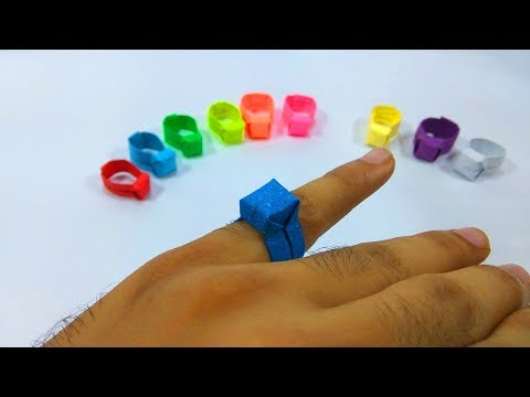 How to make an Easy Paper Ring  - Origami Ring - Tutorial - Step by Step Instructions