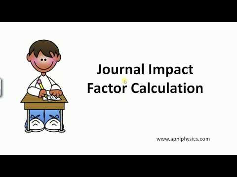 Research Journal Impact Factor Calculation
