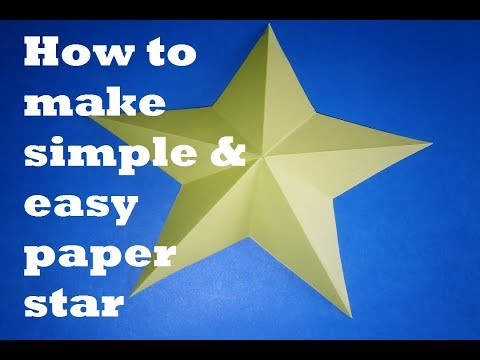 How to Make Simple & Easy Paper Star || Paper Star Origami - DIY Paper Craft Ideas