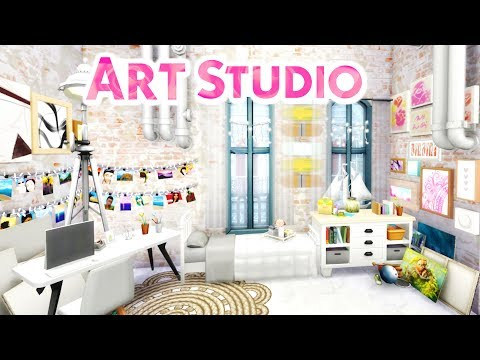 ART STUDIO | Sims 4 Speed Build