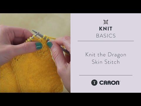 How To Knit the Dragon Skin Stitch