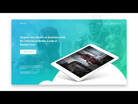 How to Design and Code a Responsive Movie Streaming Website - Part 1