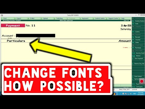 Fonts Change  in Tally erp 9 6.3.1| free font tdl in tally 6.3.1 update skill bill