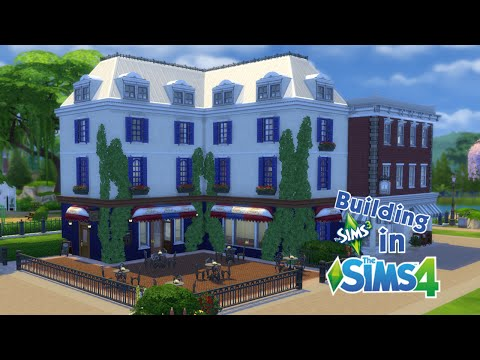 Building The Sims 3 in The Sims 4 - Bistro and Book Store