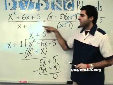 Algebra 2 Dividing Polynomials