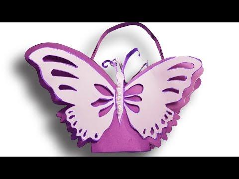 Batterfly Backpack  paper ( EASY Tutorial ) , Origami art