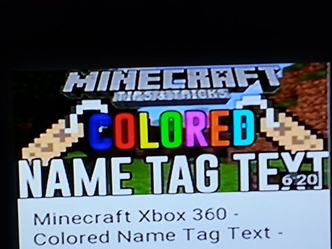 Minecraft Xbox 360 - Colored Name Tag Text - Hidden Color Glitch Minecraft TU22 (PS3 & Xbox 360)