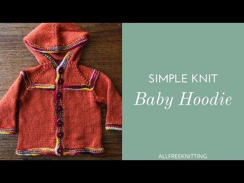 Simple Knit Baby Hoodie