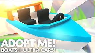 🚤 Boats and Ultra Cars! 🏎 Transport Update 🏃🏽♀️💨 Adopt Me! on Roblox