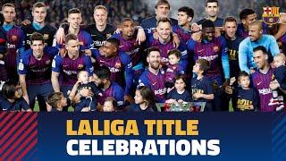 Barça celebrates the 2018/19 LaLiga title at Camp Nou