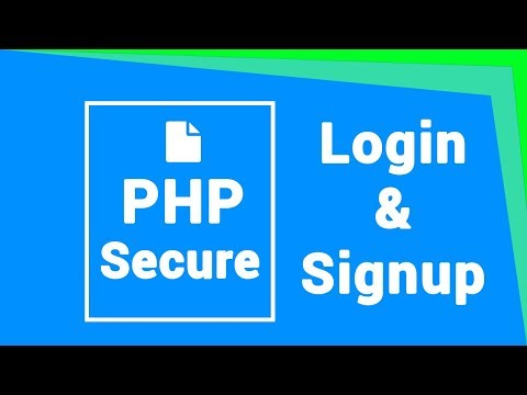 Secure login and signup in PHP