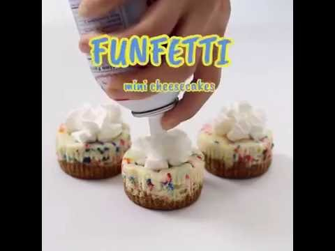 Tasty Sweeten Funfetti Mini Cheesecakes
