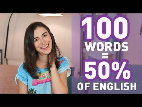 100 MOST COMMON ENGLISH WORDS - BEGINNER VOCABULARY