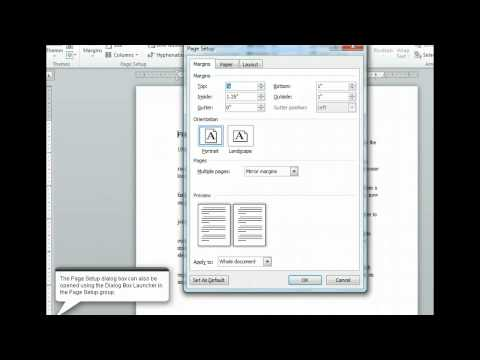 Word 2010 - Change Margins - Microsoft Office 2010 Training