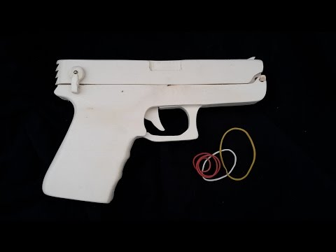 Mag-fed semi-auto Glock 19 [ Rubberband Gun ] - Free templates