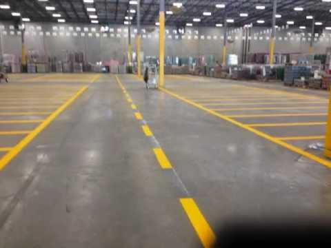 Line Striping In a Warehouse