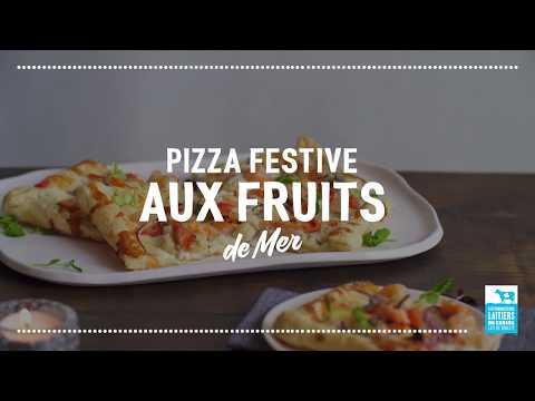 Pizza aux fruits de mer   Calendrier du lait 2018