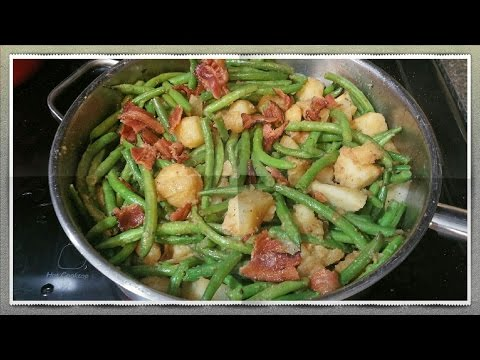 BEST SOUTHERN STYLE GREEN BEANS AND POTATOES-  HOW TO MAKE GREEN BEANS AND POTATOES