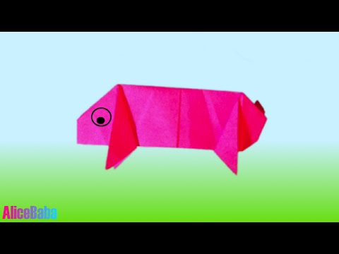How to make Origami : Pig
