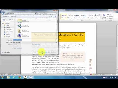 How to Create a Customized Template in Microsoft Word