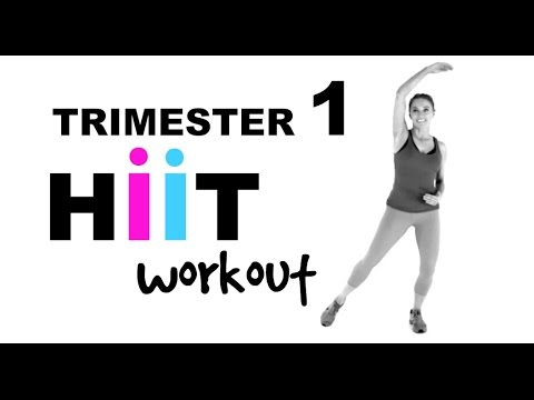 PREGNANCY EXERCISE - FIRST TRIMESTER WORKOUT - PRENATAL HIIT ROUTINE