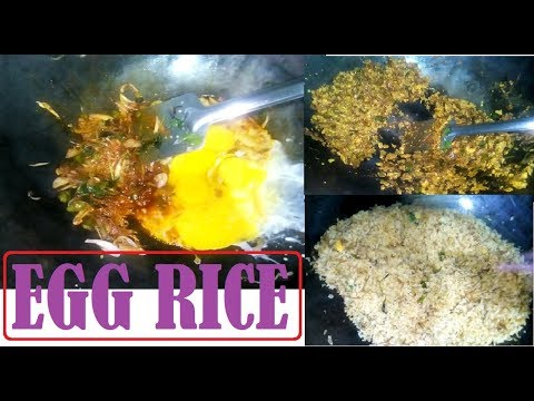 How To Make Egg Fried Rice-  Quick and Easy Egg Fried Rice - Country Food