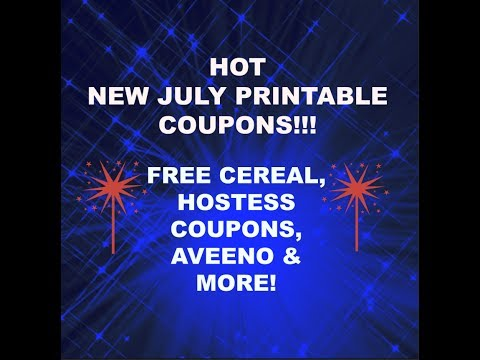Hot NEW July Printable Coupons!
