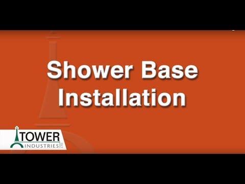 Custom Shower Base Installation