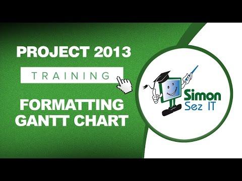 Microsoft Project 2013 Training - Formatting a Gantt Chart