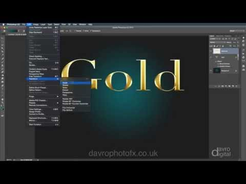 How to create  Glossy Gold text in Photoshop