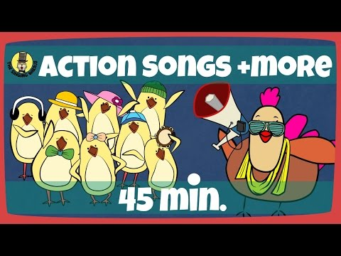 Kids Actions Songs | Kids Song Compilation | The Singing Walrus