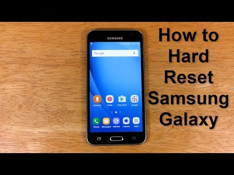 How to reSet Samsung Galaxy & How to hard ReSET Samsung Express Prime or Samsung J3 - Free & Easy