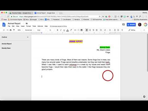 Google Docs - Text Spacing and Alignment