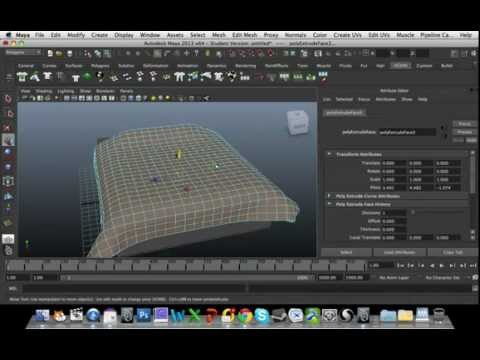 MAYA 3D ModellingTutorial - Bed with Pillow and sheet using Ncloth