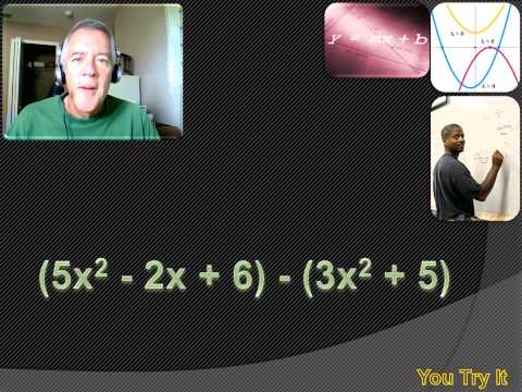 Algebra 1 - Add, Subtract and Multiply Polynomials