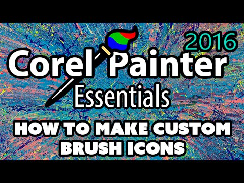 How To Make Custom Brush Icons (Painter 2016 Tutorial)