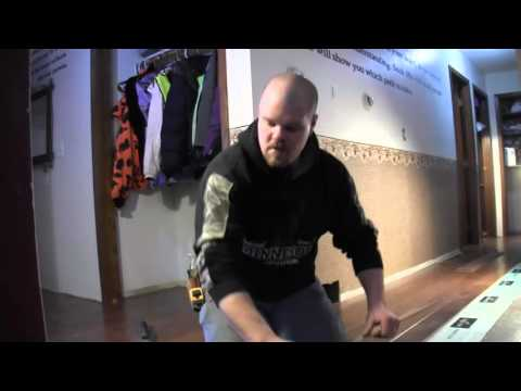 How to install laminate in a hallway- part 2