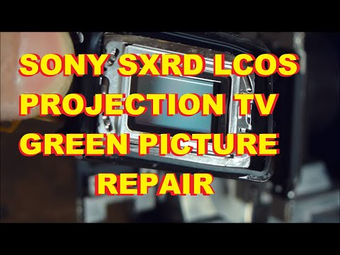 Sony SXRD Projection Green Yellow picture Repair Tint Blob Fog KDS 50 55 60 A2000 A2020 A2010 XBR1 2