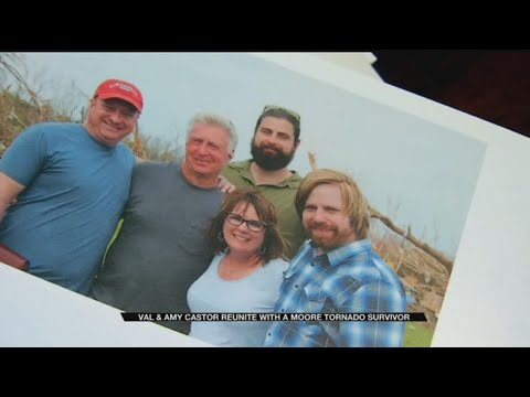 News 9 Storm Trackers Give Moore Tornado Victim Gift