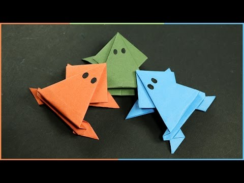 Origami Frog that Jumps - Easy Fun Paper Craft for Kids