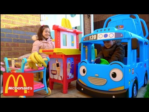 The Little Bus at McDonald's-Kitchen Toy Playset Pretend Play